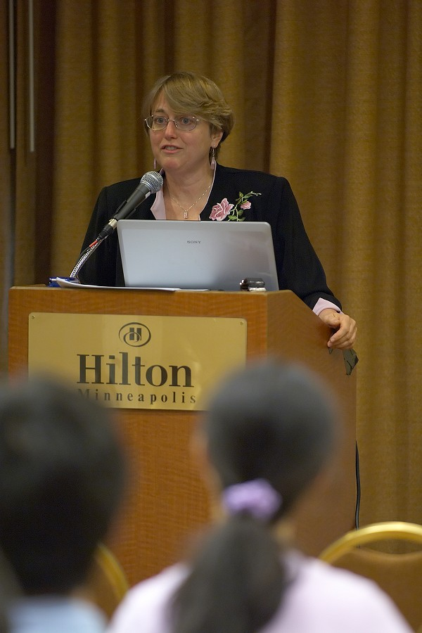 Judy Bossuat speaks at the 2006 SAA Conference