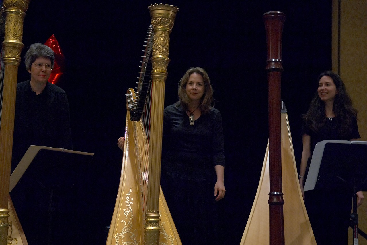 Elinor Niemisto, Deliane Fedon, and Phala Tracy perform in the Gala Concert at the 2006 SAA Conference