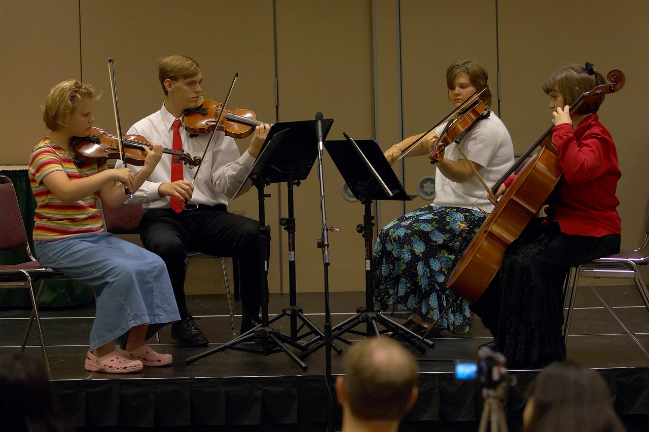 The Seasons String Quartet in the chamber ensemble masterclass at the 2006 SAA Conference