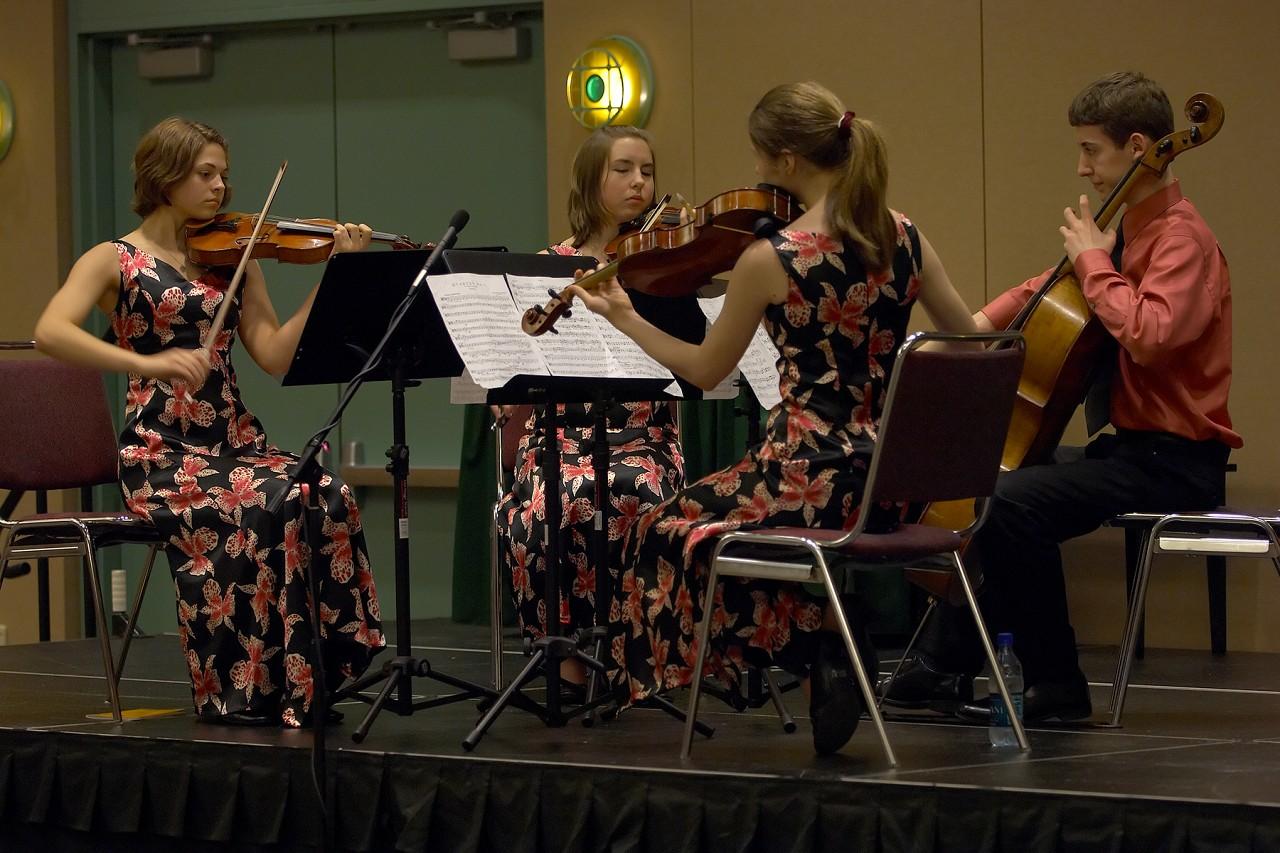 Quartetto Polare in the chamber ensemble masterclass at the 2006 SAA Conference