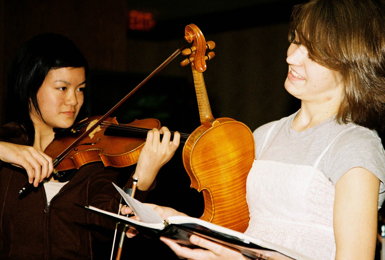 International Ensembles rehearsal