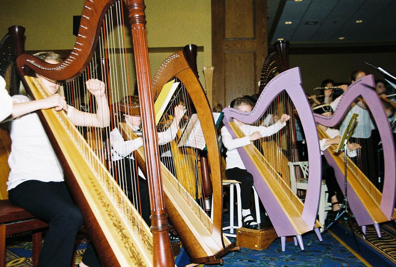 Suzuki harp students.