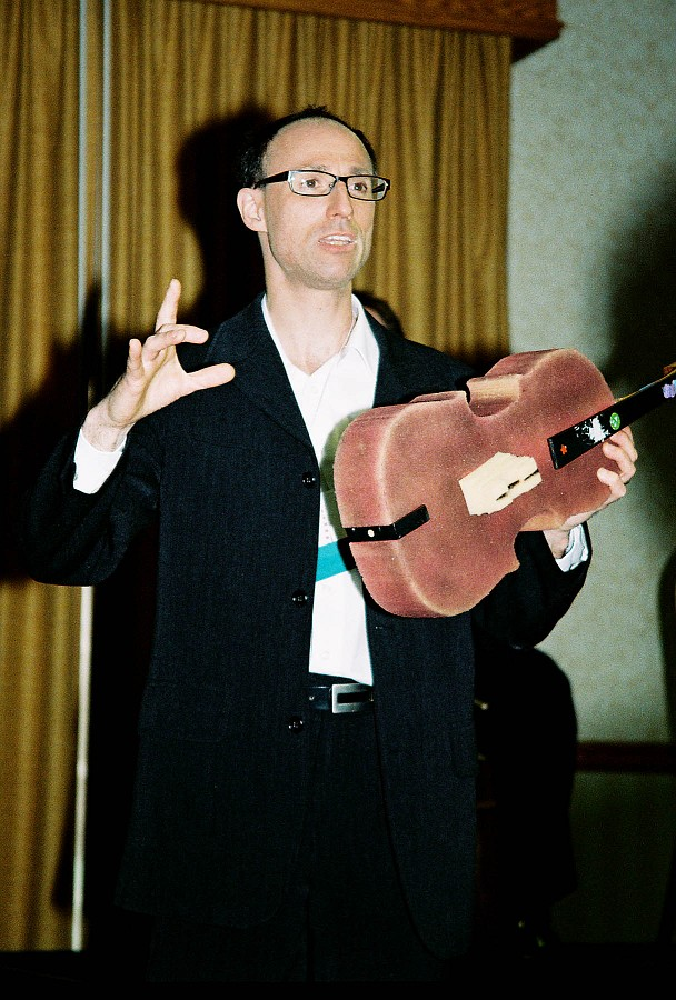 David Evenchick and foam cello.