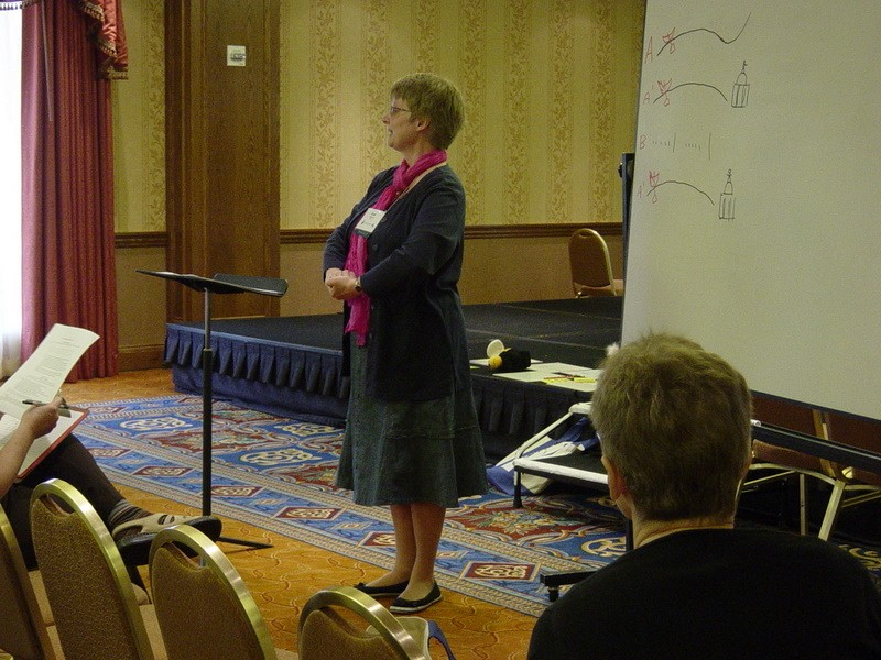 Joan Linklater speaks at the 2008 SAA Conference