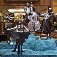 Statues in the Minneapolis Hilton Lobby
