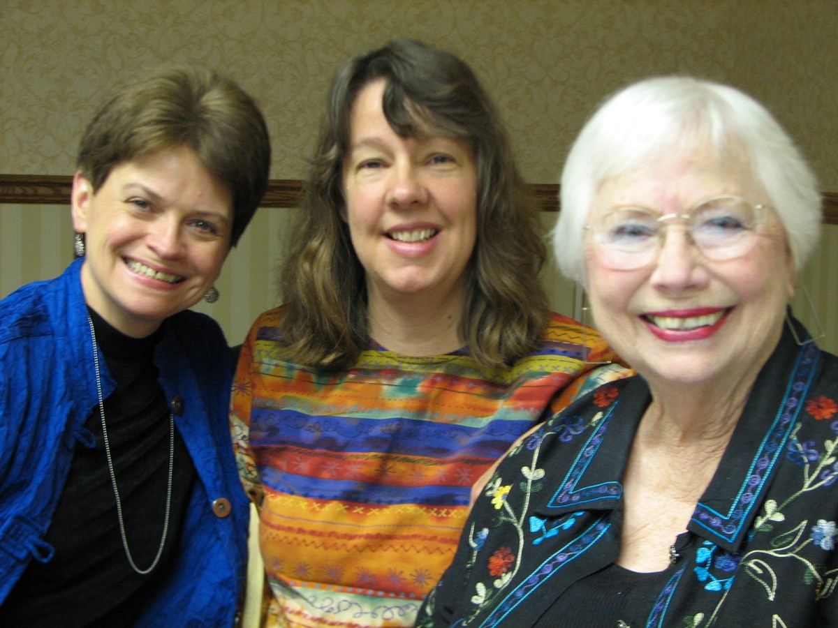 Rebecca Paluzzi, MaryLou Roberts, and Doris Harrel.