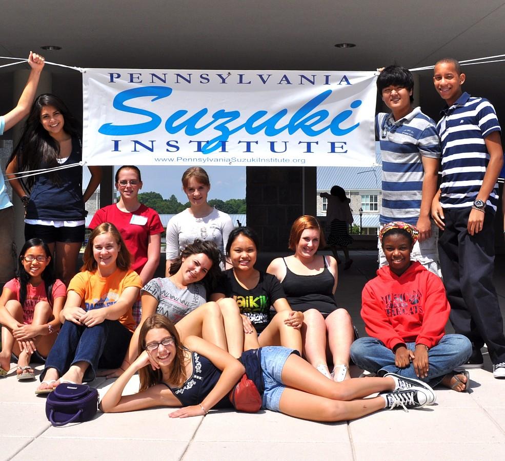 Students at Pennsylvania Suzuki Institute