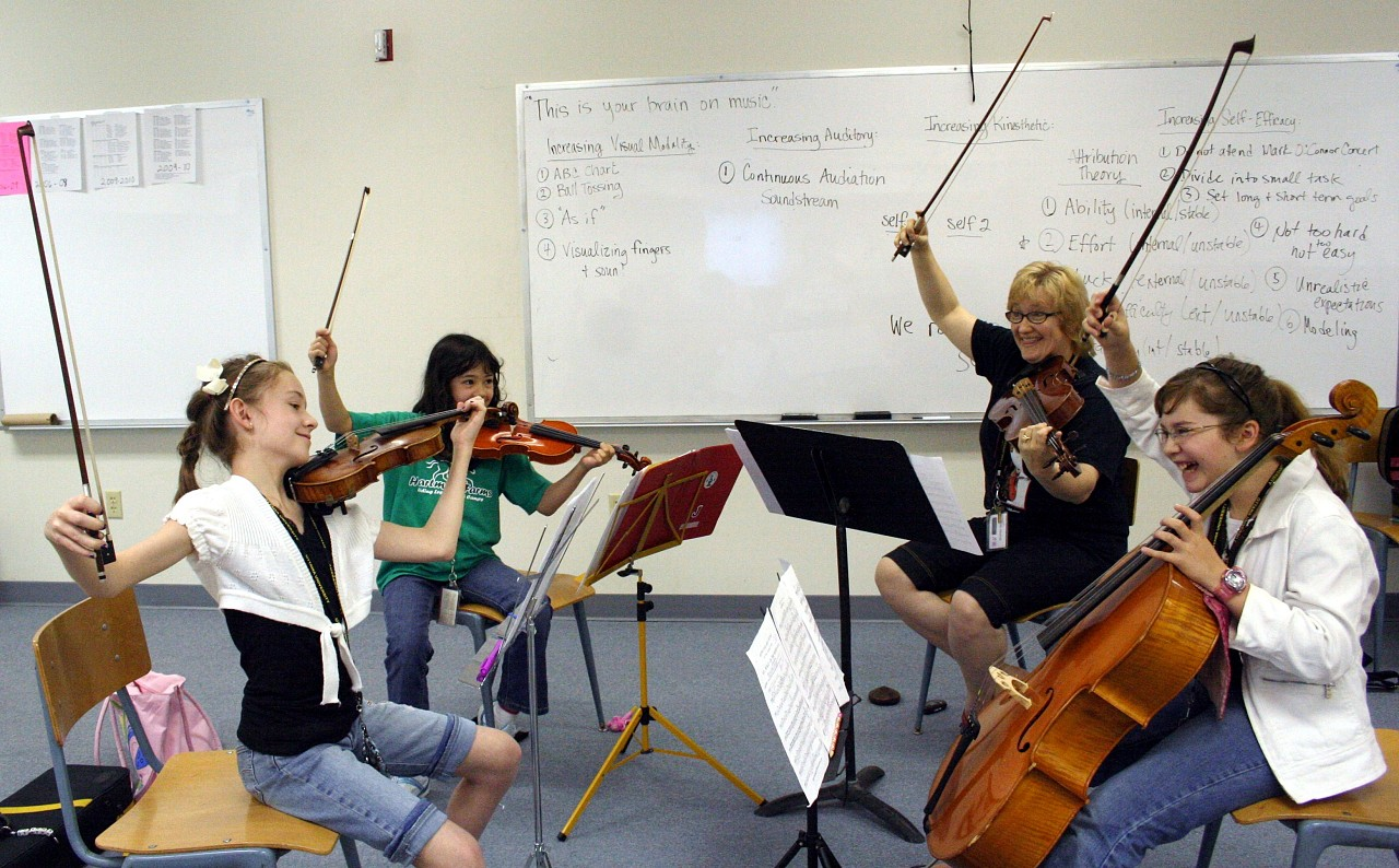 String quartet at Ottawa Suzuki Institute