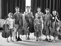 Cello students at Institut Suzuki Montréal