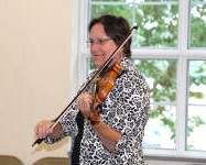 Fiddling at Virginia Suzuki Institute