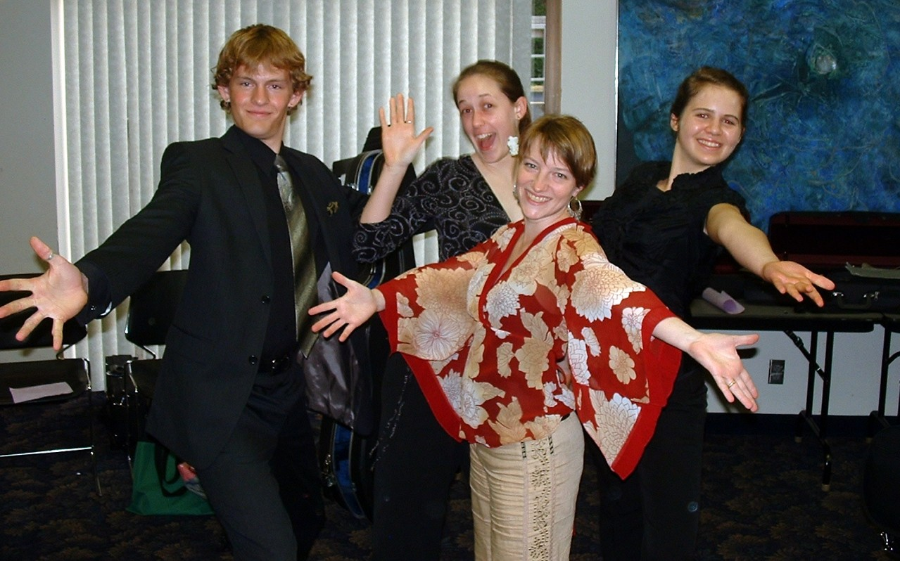 Jazz hands at Oregon Suzuki Institute
