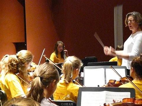 Orchestra rehearsal at Suzuki Music Columbus