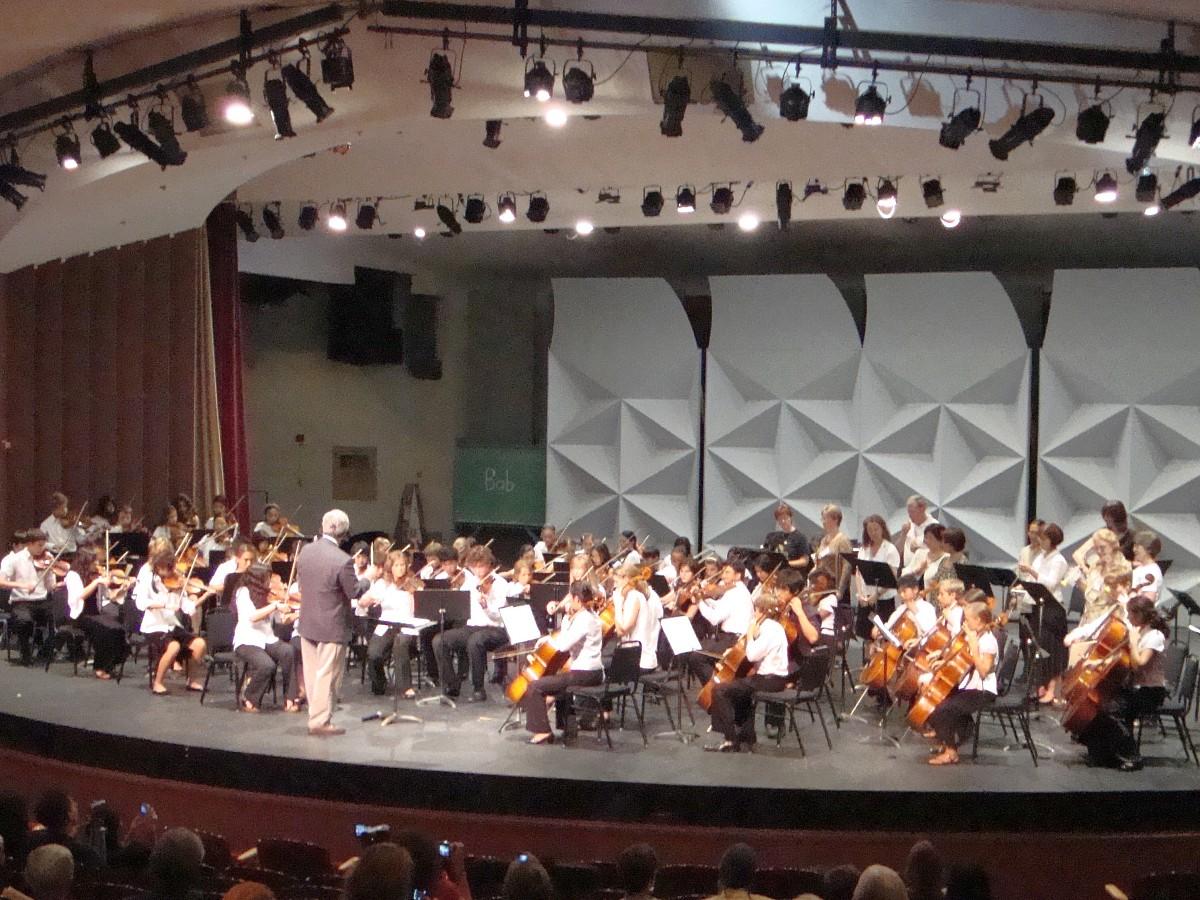 Orchestra concert at Advanced Suzuki Institute at Stanford