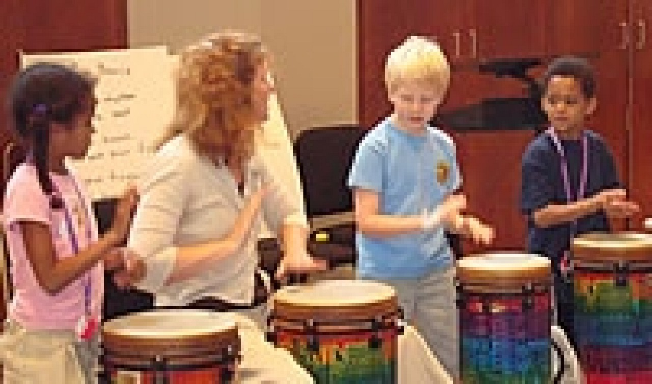 Drumming at South Carolina Suzuki Institute