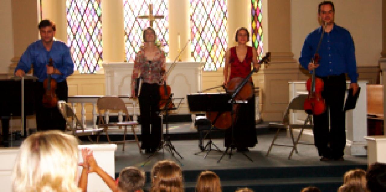 String quartet concert at Virginia Suzuki Institute