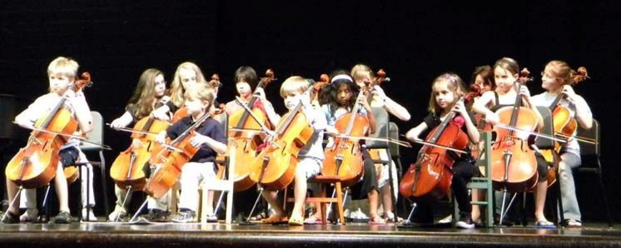 Cello students at Greater Pittsburgh Suzuki Institute