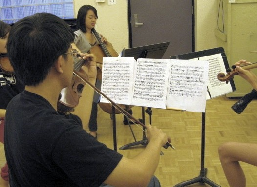 Flute ensemble at Greater Pittsburgh Suzuki Institute