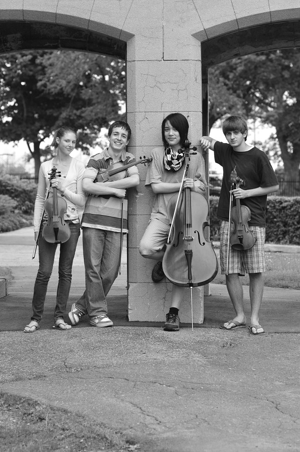 String quartet students at Institut Suzuki Montréal