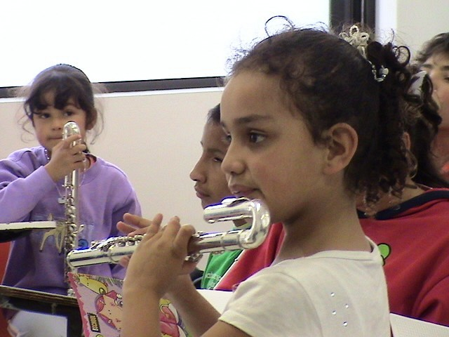 Young flute student at the Bogota Suzuki Festival in June, 2008.
