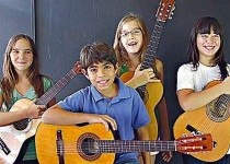 Guitar students from Latin America