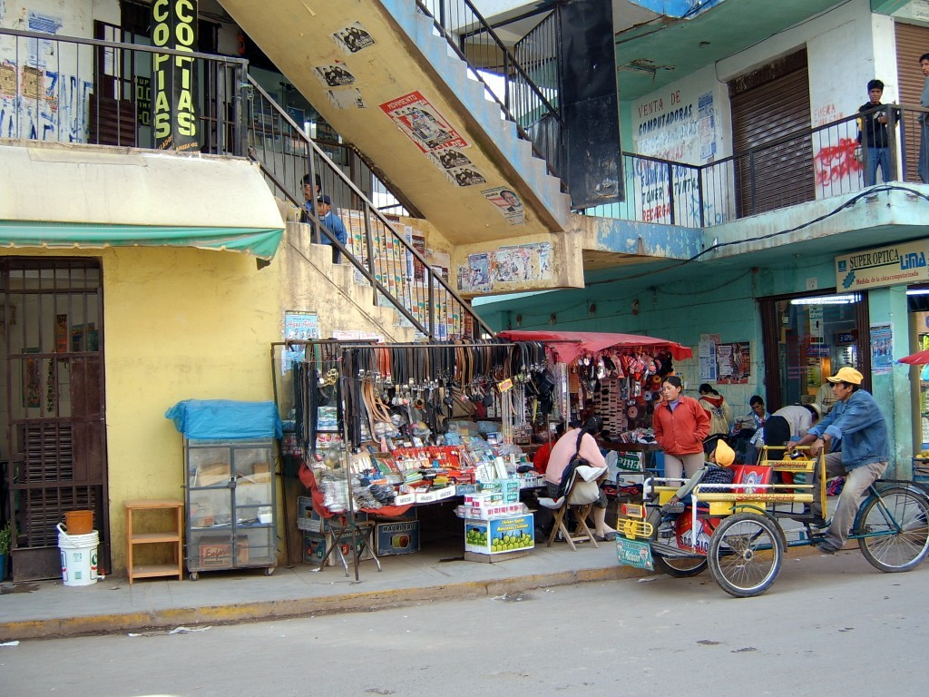 Stairs to Escuela Superior de Formacion Artistica Publica in Juliaca