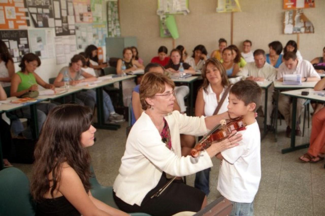 Nancy Lokken and student