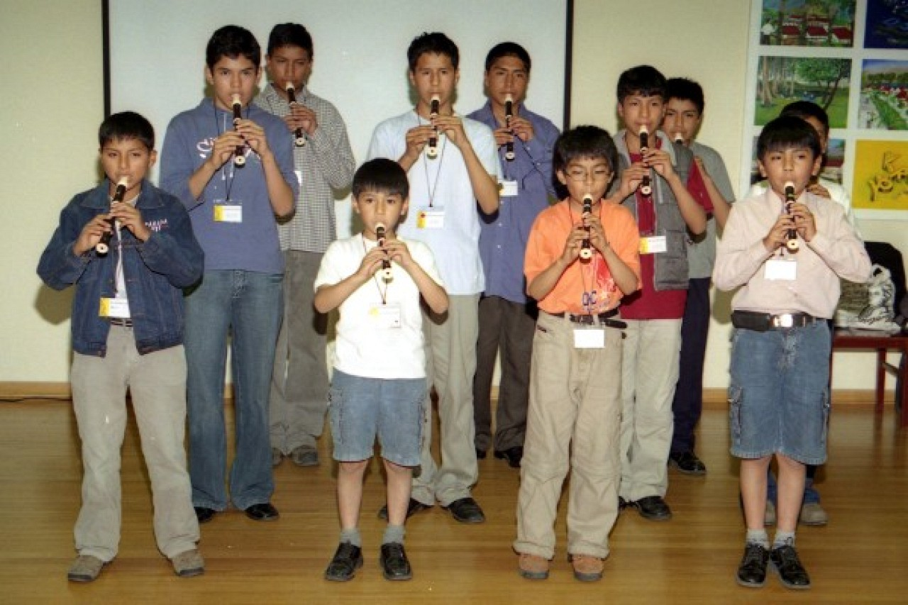Recorder students from Huancavelica