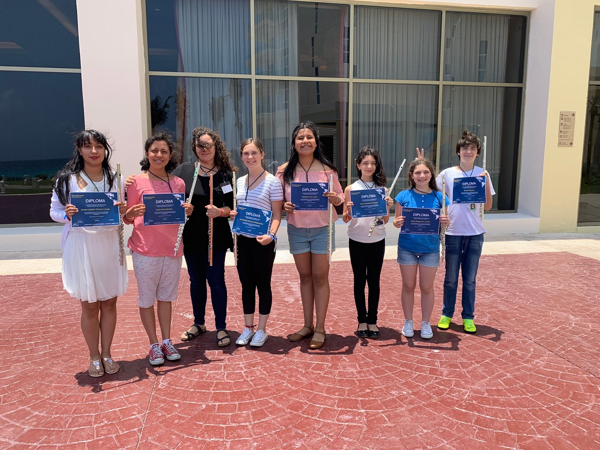 Flute students in Cancun—group certificates