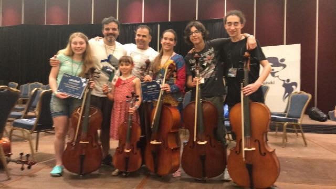 Cello section of the Orquesta Revueltas