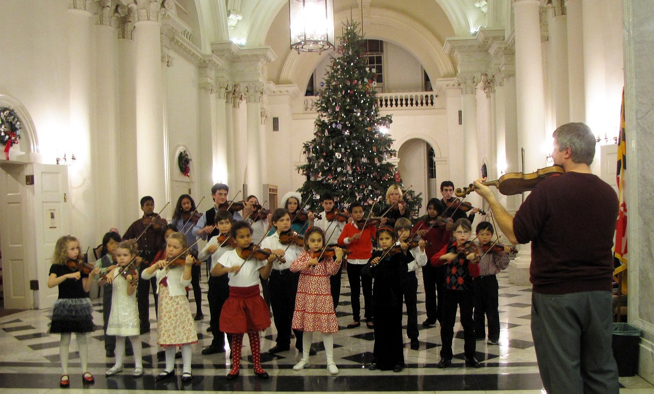 Perpetual Motion Suzuki Strings perform at Maryland State House
