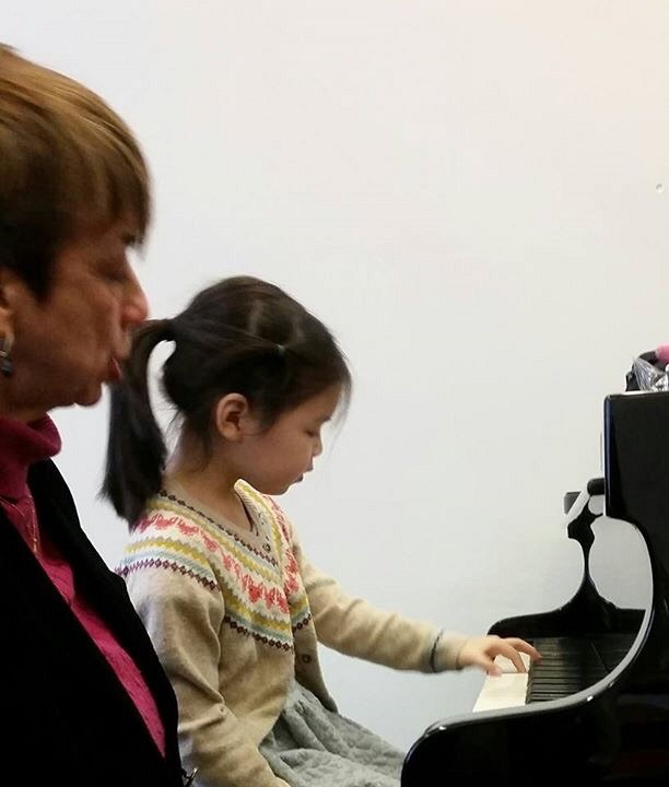 Lisa Sun (6), lesson in action