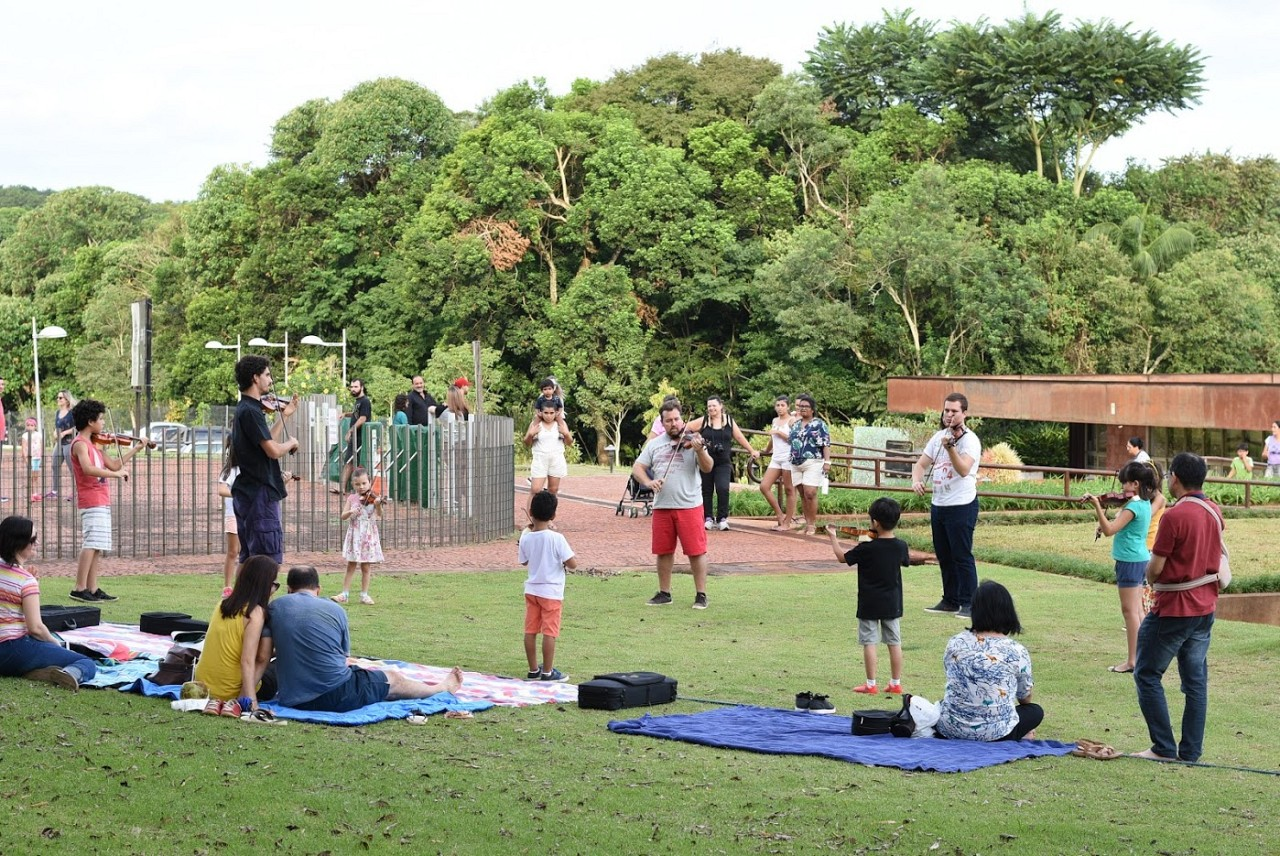 Group Class at Botanical Garden
