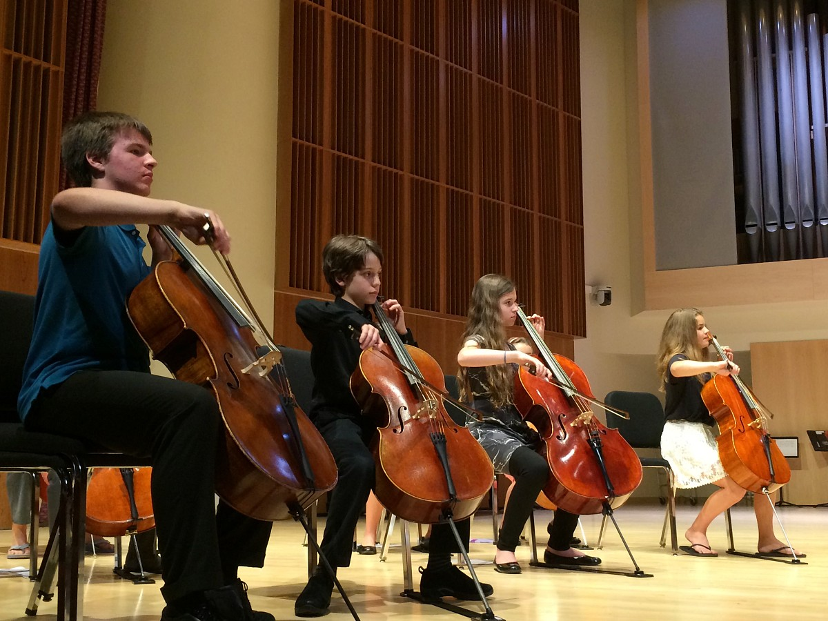 Advanced Cello Group, Ithaca Suzuki Institute 2015