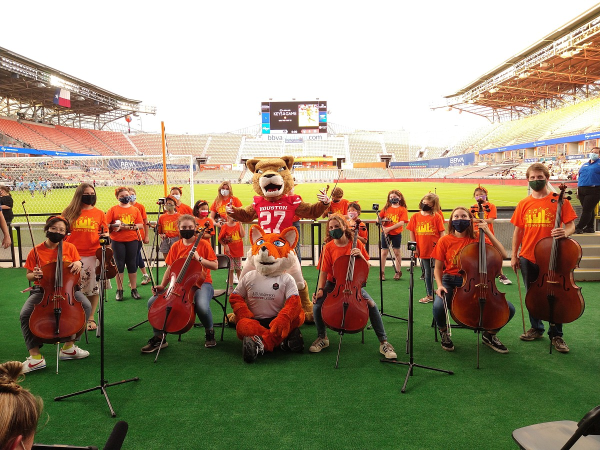 H-Town Strings at the Houston Dash!