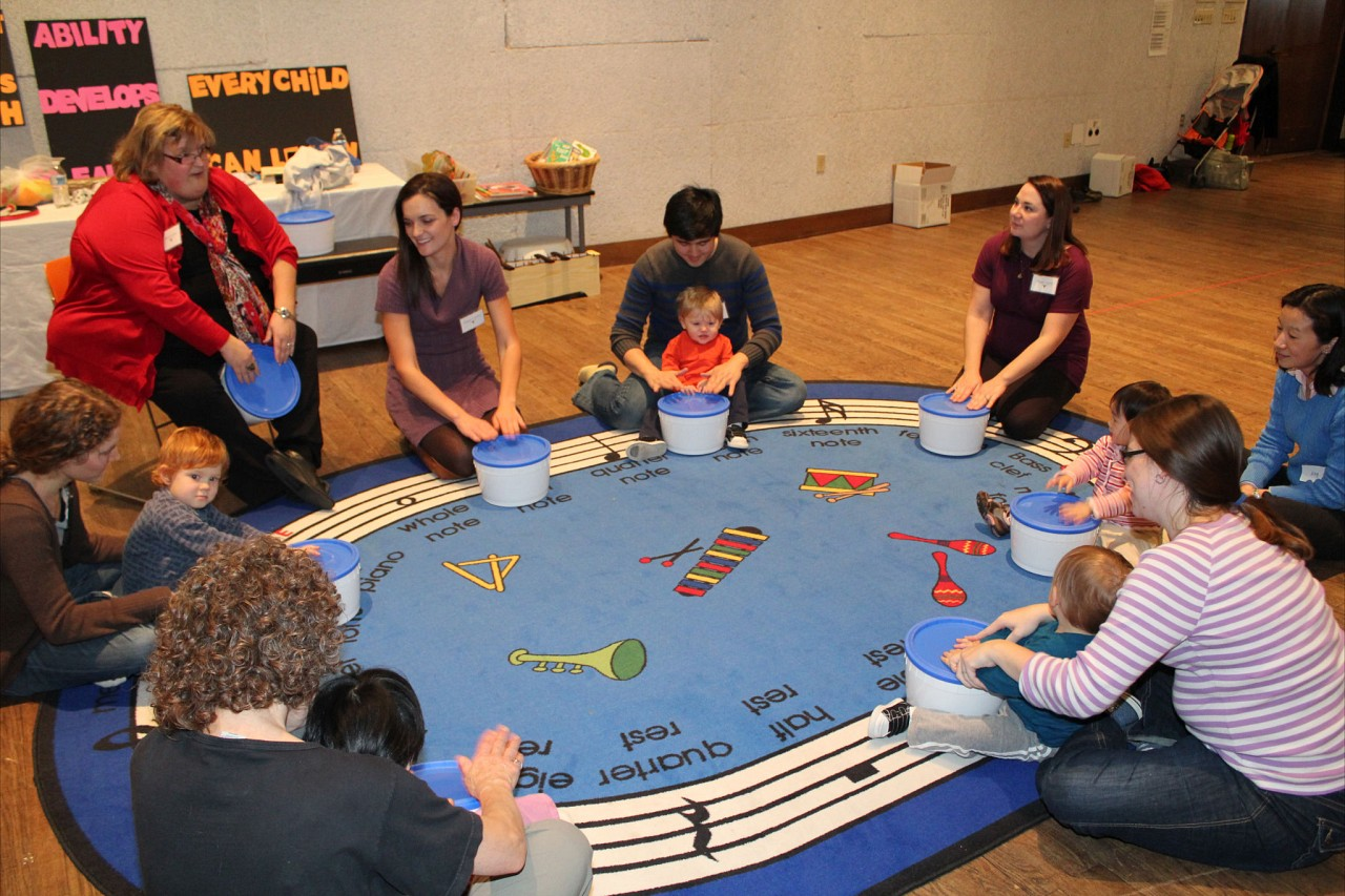 Suzuki Early Childhood Education Baby Class with Sharon Jones in Austin, TX, January 2012