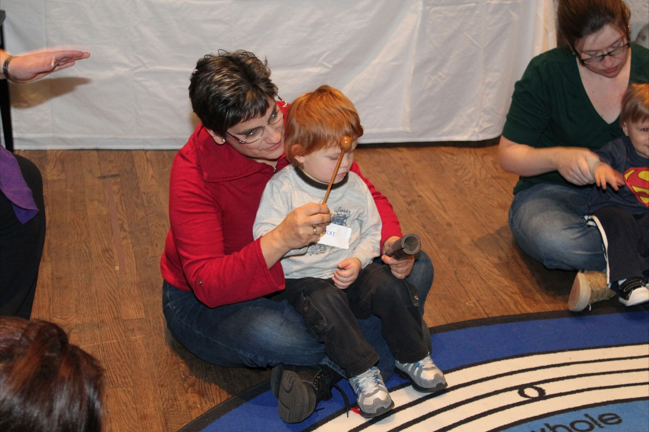 Andrea Cannon with Suzuki Early Childhood Education Baby Class in Austin, TX, January 2012