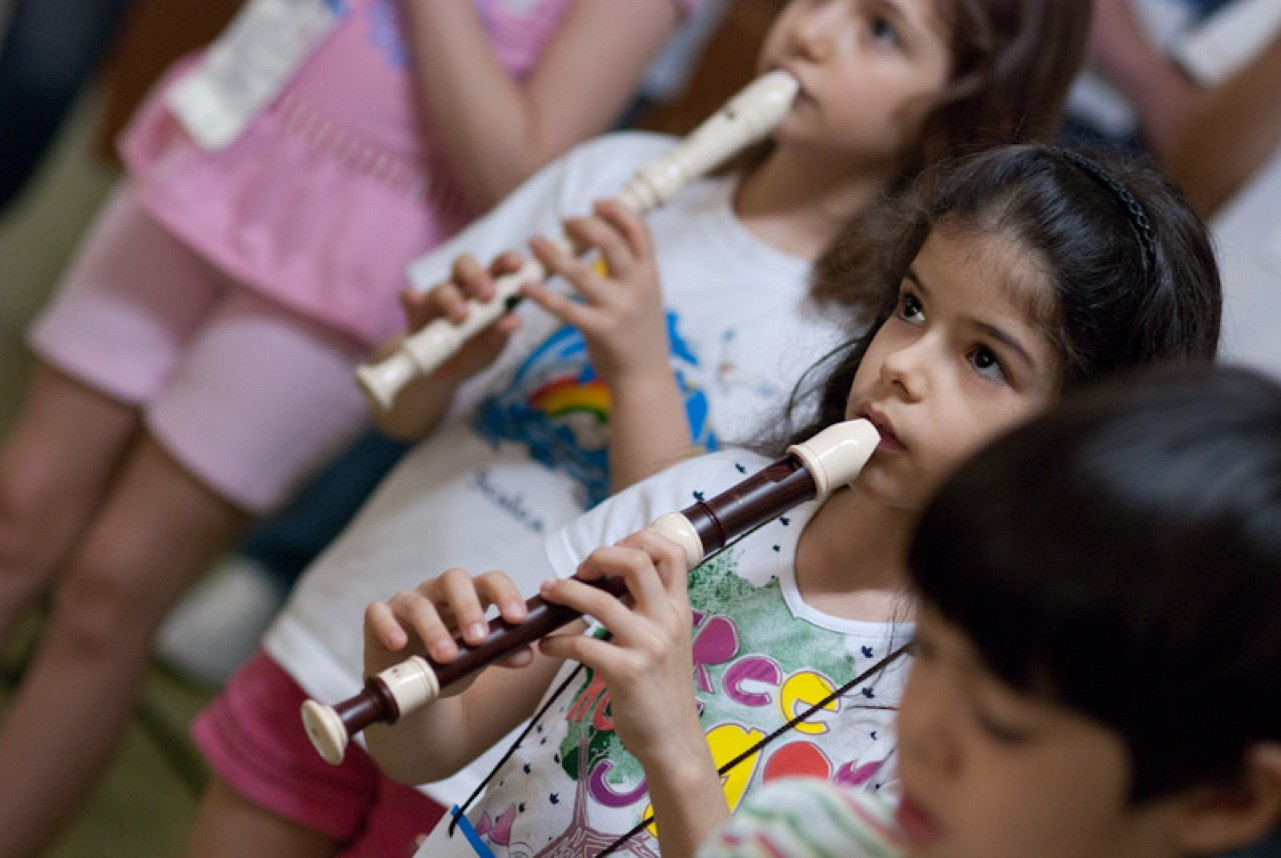 Recorder students in Brazil