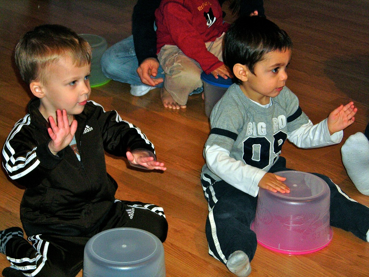 Drumming in ECE Baby Class