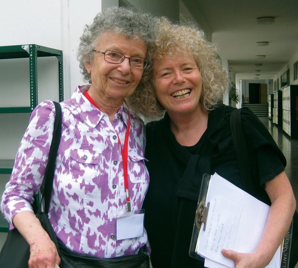 Doris Koppelman and Caroline Fraser in 2011