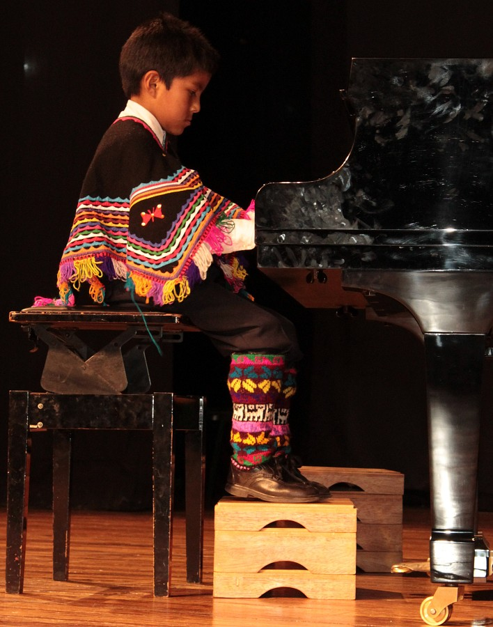Piano student from Huancavelica, Peru