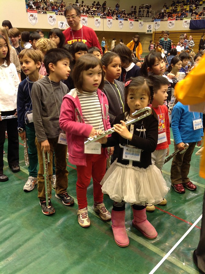 Flautists at Opening Cermonies