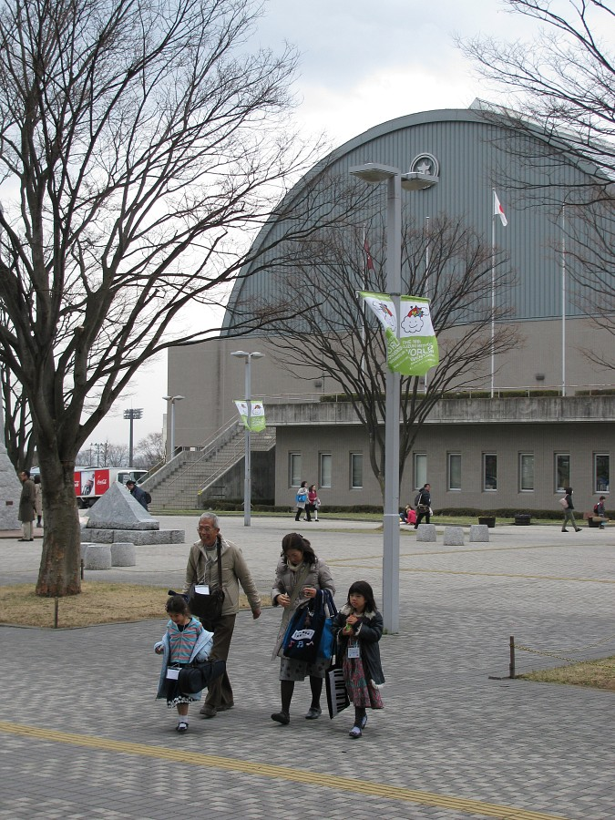 Matsumoto City General Gymnasium, site of opening and closing concerts