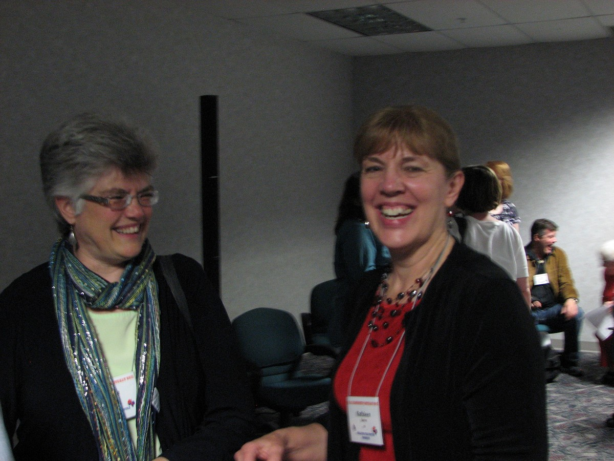 Joanne Melvin and Kathleen Spring at the 2011 Leadership Retreat
