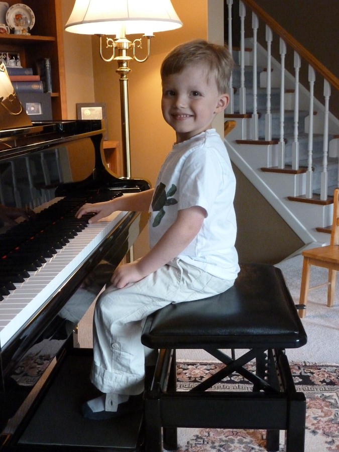 Young piano student of Nena LaMarre