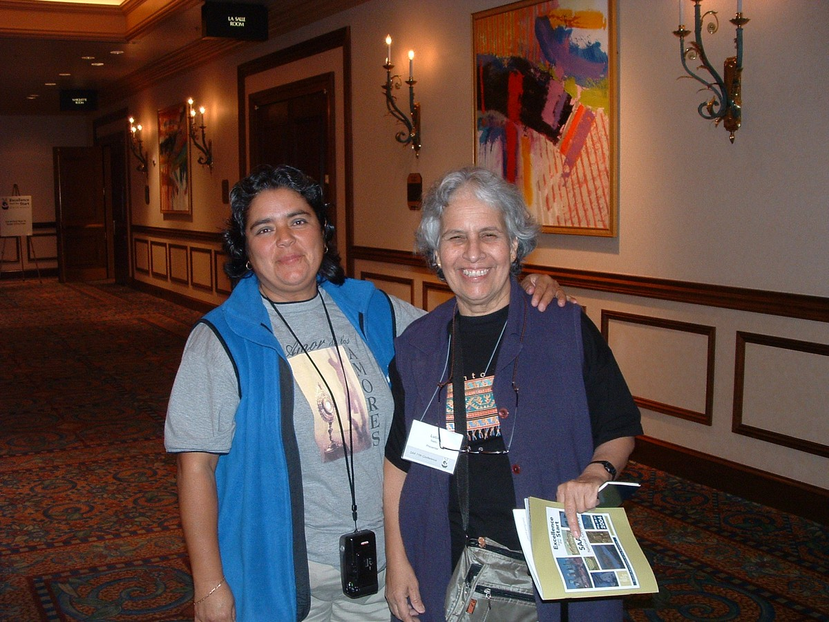 Lucia Nieto and Friend at the 2004 Conference
