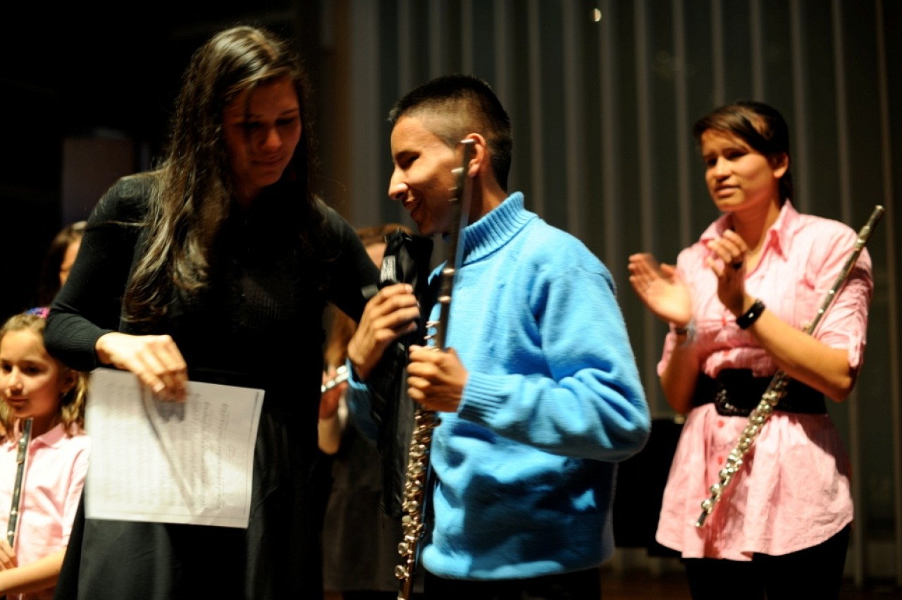 Nicolas Piracún, with Diana Bettin Mujica and Leidy