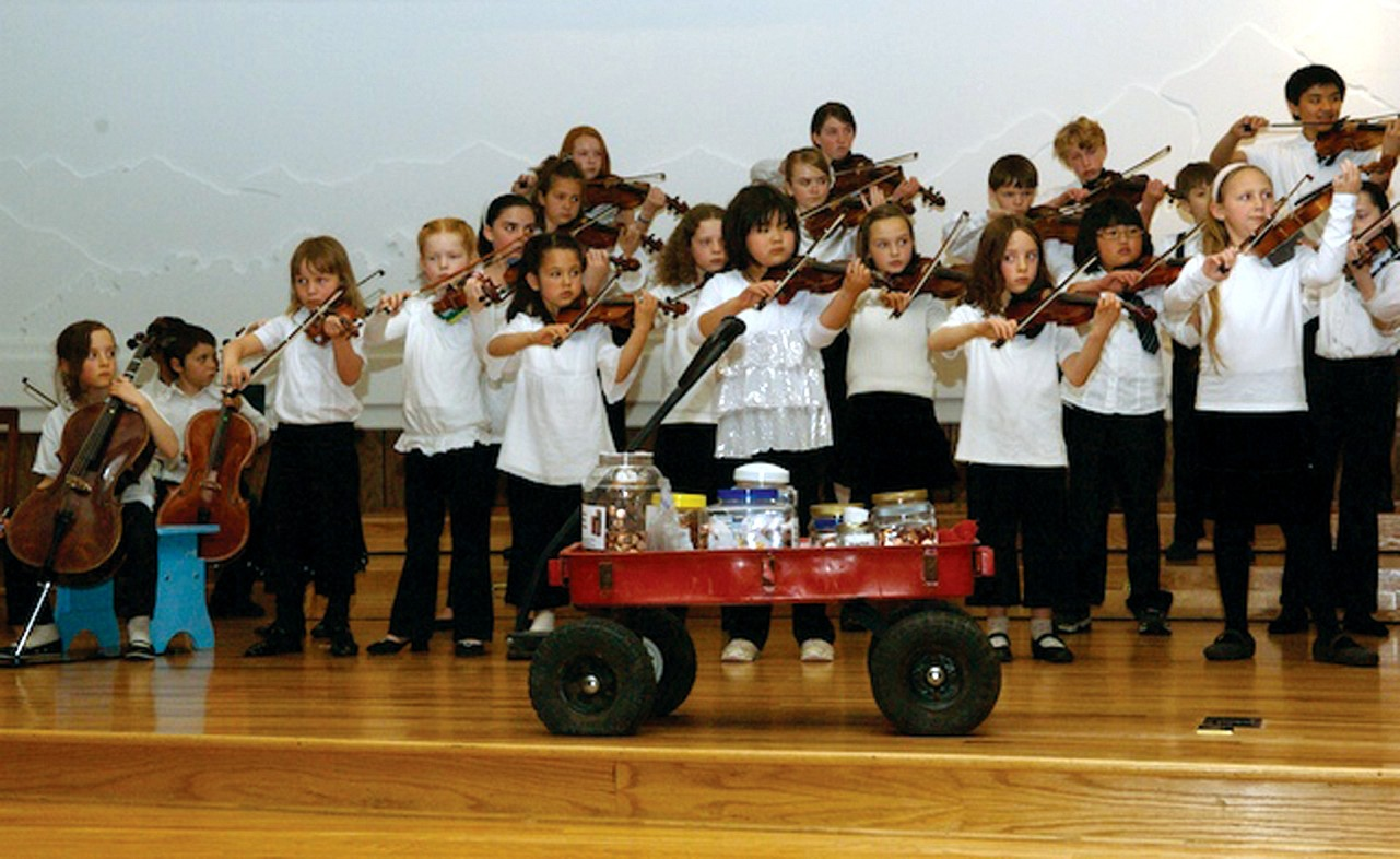 Longmont Suzuki Strings: Play for Peace, a Pennies for Peace fundraising concert.