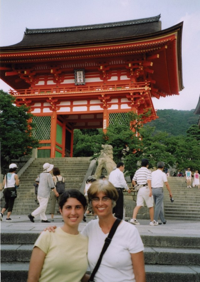 Amy and mom Vicki Abramowitz in Kyoto, Japan