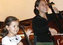 Cello Student and Teacher