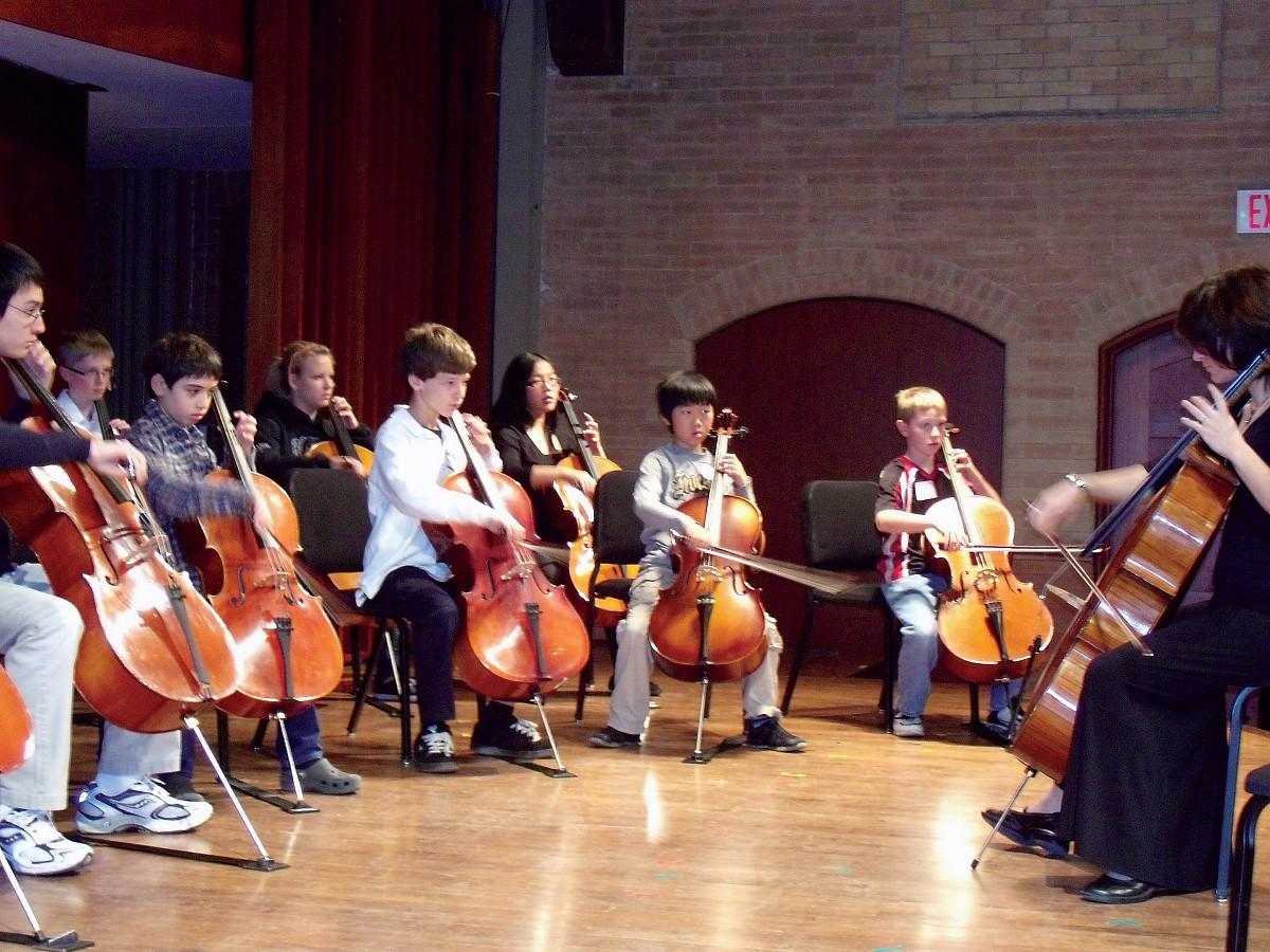 Cello Class at SAO 2008 Conference